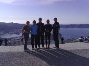 Bilde fra toppen av Bergen