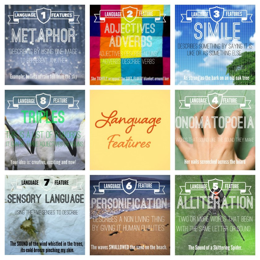 teaching language features and language devices